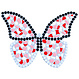 Cristallo Mozaiek pakket Vlinder Wit-Rood-Rose