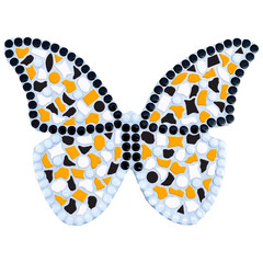 Cristallo Mozaiek pakket Vlinder Wit-Zwart-Oranje