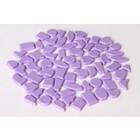 Cristallo Kunststof mozaiek-steentjes ca. 500 gram VIOLET