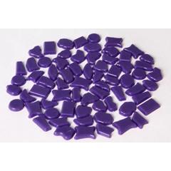 Cristallo Kunststof mozaiek-steentjes ca. 500 gram PAARS