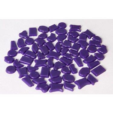 Cristallo Kunststof mozaieksteentjes ca. 500 gram PAARS