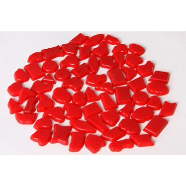 Cristallo Kunststof mozaieksteentjes ca. 500 gram ROOD
