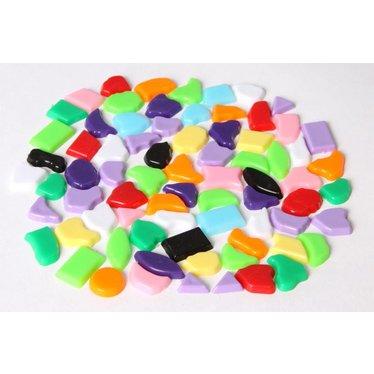 Cristallo Kunststof mozaieksteentjes 70 gram MIX-kleuren