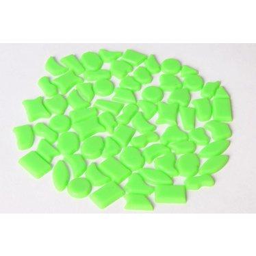 Cristallo Kunststof mozaieksteentjes ca. 70 gram LICHTGROEN