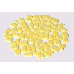 Cristallo Kunststof mozaiek-steentjes ca. 70 gram GEEL