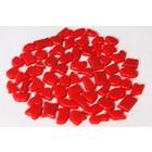 Cristallo Kunststof mozaiek-steentjes ca. 70 gram ROOD