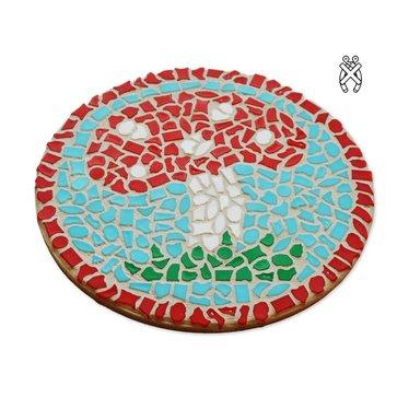 Cristallo Wandbord Mozaiek pakket Paddenstoel
