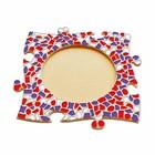 Cristallo Mozaiek pakket Fotolijst Cirkel Rood-Wit-Paars