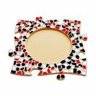 Cristallo Mozaiek pakket Fotolijst Cirkel Rood-Zwart-Wit