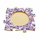 Cristallo Mozaiek pakket Fotolijst Cirkel Wit-Paars-Violet