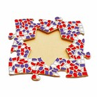 Cristallo Mozaiek pakket Fotolijst Ster Rood-Wit-Paars