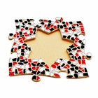 Cristallo Mozaiek pakket Fotolijst Ster Rood-Zwart-Wit