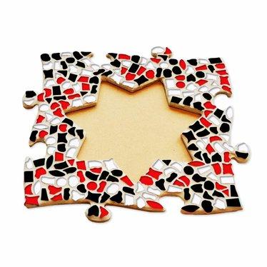 Cristallo Fotolijst Ster Rood-Zwart-Wit