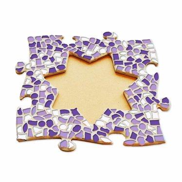 Cristallo Fotolijst Ster Wit-Paars-Violet