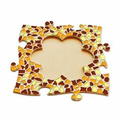Cristallo Mozaiek pakket Fotolijst Bloem Bruin-Oranje-Geel