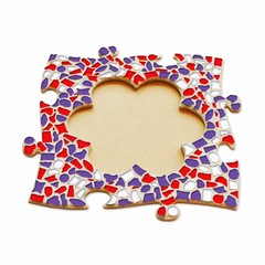 Cristallo Mozaiek pakket Fotolijst Bloem Rood-Wit-Paars