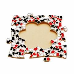 Cristallo Mozaiek pakket Fotolijst Bloem Rood-Zwart-Wit