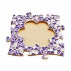 Cristallo Mozaiek pakket Fotolijst Bloem Wit-Paars-Violet