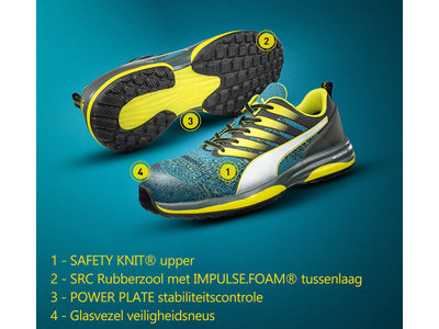 Puma Safety Motion Cloud Charge Green Low, S1P ESD HRO SRC