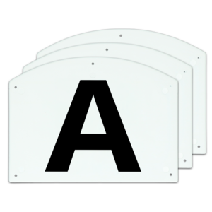 Show Jump letters A/B/C 27 x 20 cm