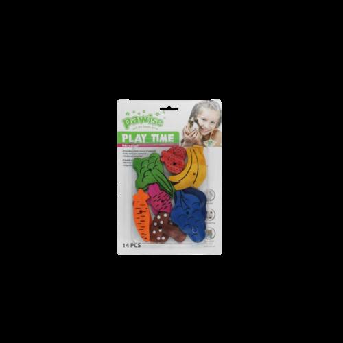 Small pet play toy-fruit/veggie mix 14pk