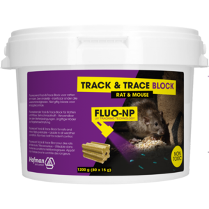 Hofman Pest Control Track & Trace Block Fluo-NP (80x15g)