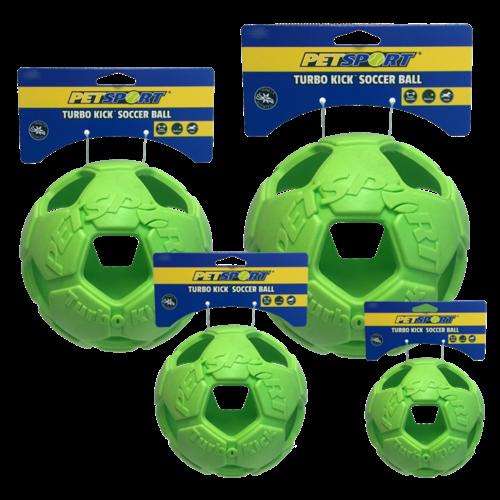 Petsport Turbo Kick Soccer Ball 15cm Groen