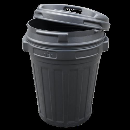 Voerton met draaisluiting 70 liter Black