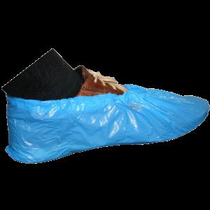 Wegwerp overschoen blauw CPE