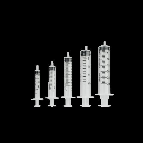 Wegwerpspuit 3-delig Luer hub 5ml