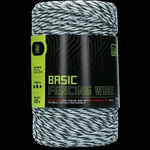 ZoneGuard 3 mm Basic afrasteringsdraad wit donkergroen 200 m