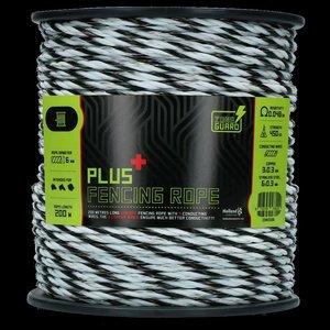 ZoneGuard 6 mm Plus afrasteringskoord zwart en wit 200 m