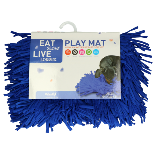 Eat Slow Live Longer Play Mat Blue