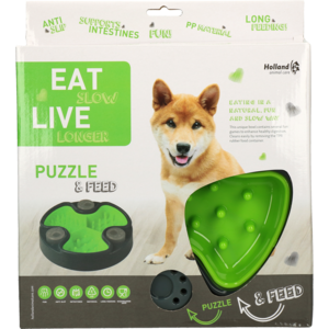 Eat Slow Live Longer Puzzle and Feed Green