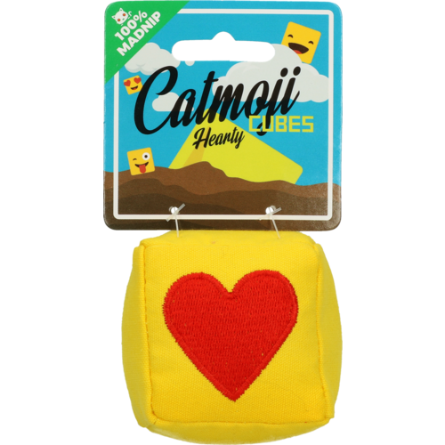 Catmoji Emoji Cat Cube Hearty (met MadNip)