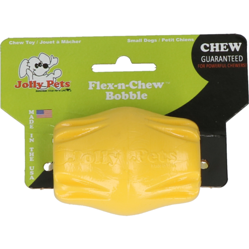 Jolly Pets Jolly Flex-n-Chew Bobble geel small