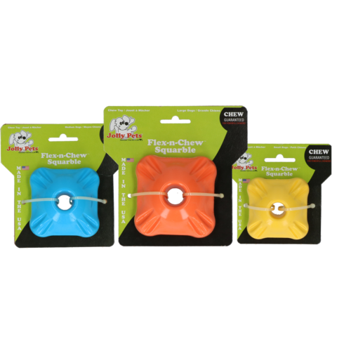 Jolly Pets  Jolly Flex-n-Chew Squarble oranje large