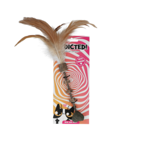Addicted Addicted Stick with heart and feathers