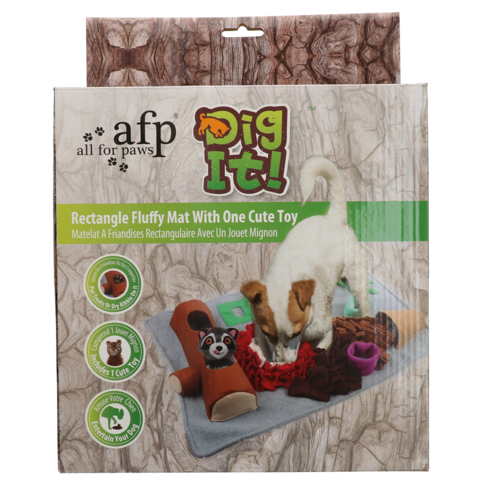 AFP AFP Dig it - Rectangle Fluffy mat with cute toy