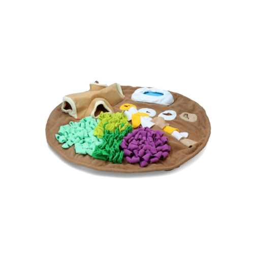 AFP AFP Dig it - Round Fluffy mat with cute toy