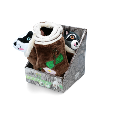 AFP AFP Dig it - Tree Trunk Burrow - M with 2 cute toys