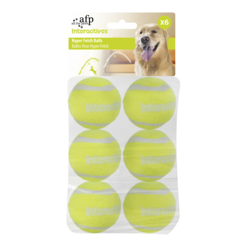 All for paws AFP AFP Interactive Hyper Fetch Super Bounce Tennis Balls