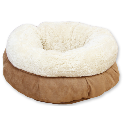 All for paws AFP AFP Lambswool Donut Bed TAN Beige