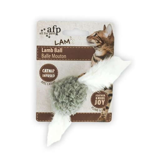 All for paws AFP AFP Lambswool-Lamb Ball with bird sound Catnip