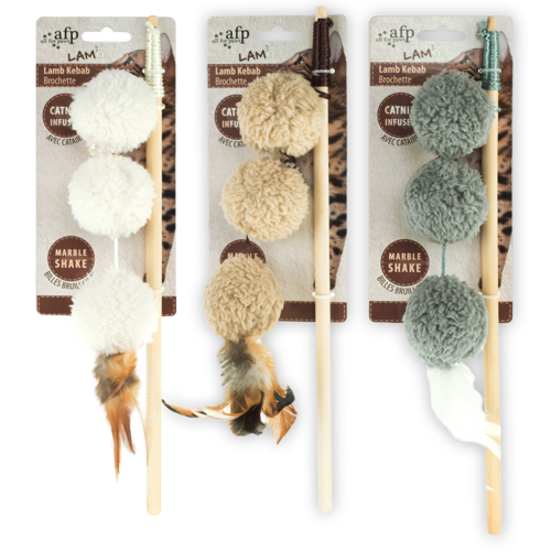 All for paws AFP AFP Lambswool-Lamb Kebab Wand Catnip