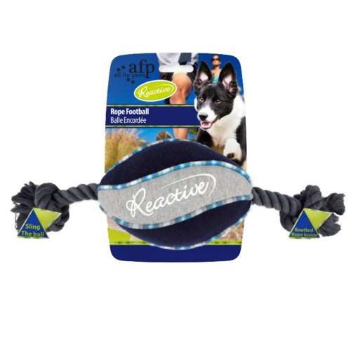 All for paws AFP AFP Reactive Rope Football Blue