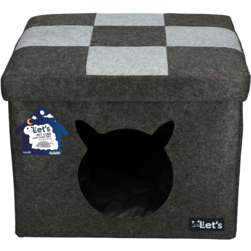 Let's Let's sleep Pet Cube licht/donker grijs
