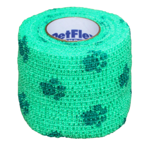 Bandage Petflex Neon Green Paw