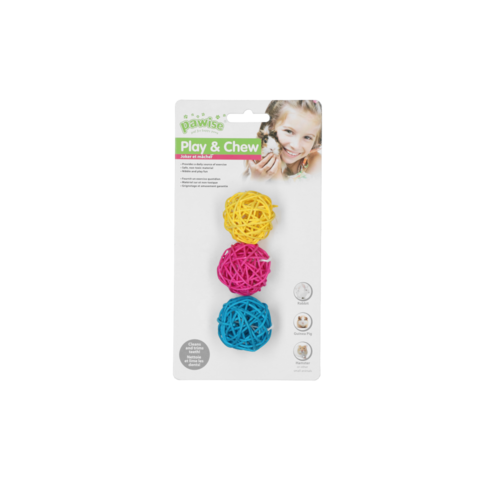 Pawise LW nibblers-willow chews-balls without bell