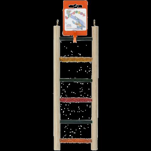 Birrdeeez Budgie Ladder 6 step All Wood